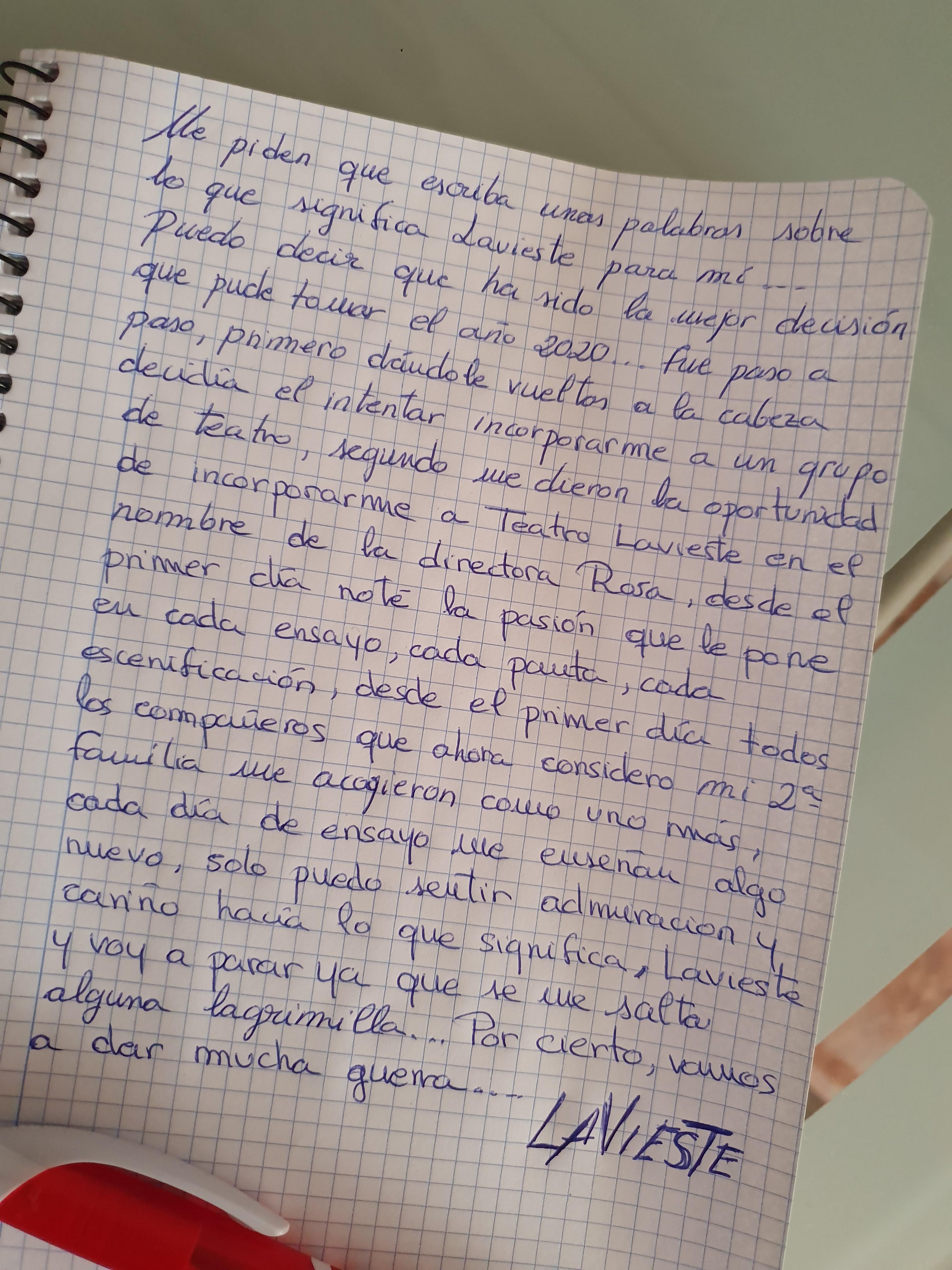 Escrito de Martín Bermejo